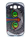 2-in-1 Green Eyes Owl TPU Back Cover + PC Bumper Shockproof Soft Case For Samsung S3 I9300