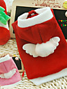 Chien Pulls à capuche Vêtements pour Chien Noël Cosplay Noël Nouvel An Ange Rouge Rose Costume Pour les animaux domestiques