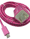 3M 10FT New Plug Wall Charger and USB Data Cable for SamSung Sony HTC Android Phones(Assorted Color)