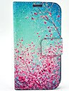 Cherry Blossoms Pattern PU Leather Case with Wallet Card Slot for Samsung Galaxy S4 I9500