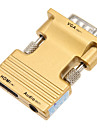 0.1M 0.328FT HDMI Female to VGA Male + Audio Female HD Connection Cable - Gold