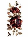 1pc Glitter Rose Waterproof Tattoo Pattern Temporary Tattoo Sticker for Body Art (18.5cm*8.5cm)