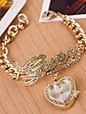 Mulheres Relógio de Moda Quartz Lega Banda Heart Shape Prata / Dourada marca-