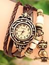 Жен. Часы-браслет Кварцевый Повседневные часы PU Группа Аналоговый Богемные Мода Черный / Белый / Синий - Красный Зеленый Синий Один год Срок службы батареи / SODA AG4