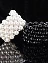 Pentru femei Perle Χάντρες Brățări cu Lanț & Legături Brățări cu Talismane Brățări Bangle - Perle, Imitație de Perle, Ștras Prieteni Brățări Alb / Negru Pentru Nuntă Petrecere Zilnic / Bratari Strand