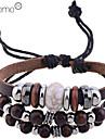 lureme®fashion деревянные бусины кожа плетеные браслеты