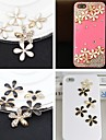 5-Style Flower Embedded Rhinestone Handmade DIY Craft Material(Assorted Color)