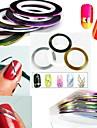 12pcs Съемная лента для фольги Шаблон шаблона для ногтей Повседневные Мода Панк Высокое качество