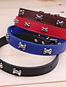 Cat Dog Collar Adjustable / Retractable Cosplay PU Leather Black Brown Red Blue