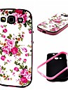2-in-1 Pink Rose Peony Pattern TPU Back Cover with PC Bumper Shockproof Soft Case for Samsung  S3 I9300