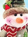 איש שלג Cute רטרו איש שלג טֶקסטִיל בנים בנות צעצועים מתנות 1 pcs