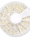 mixte taille en demi-cercle blanc perle nail art decorations