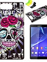 For Sony Case / Xperia Z3 Pattern Case Back Cover Case Skull Hard PC for SonySony Xperia Z3 / Sony Xperia Z3 Compact / Sony Xperia Z2 /