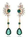 Бренд белый слеза кристалл большие серьги для женщин имитировали Gemstone ювелирные изделия brincos Grandes купон