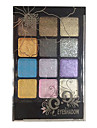 12 OEil Fards a Paupieres Poudre Maquillage Smoky-Eye Maquillage de Fete Maquillage Quotidien