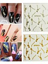 5PCS Zipper Nail Art Stick Gold / Silver to Choose