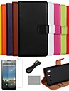 COCO FUN® Luxury Solid Color Genuine Leather Case with Film and Cable and Stylus for Huawei G510(Assorted Colors)