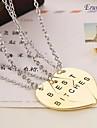 Жен. Ожерелья с подвесками - Сердце Золотой Ожерелье Назначение Повседневные, Спорт