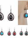 Drop Earrings Imitation Pearl Resin Rhinestone Simulated Diamond Alloy Drop Black Red Green Blue Jewelry Wedding Party Daily Casual Sports