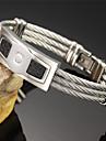 Муж. Браслеты-цепочки и звенья Титановая сталь Бижутерия Для Свадьба Для вечеринок Повседневные Спорт 1шт