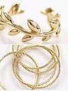 Anéis Casamento / Pesta / Diário / Casual Jóias Liga Feminino Anéis Grossos 2pçs,5 / Ajustável Dourado / Prateado