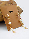 18K Gold Plated pearl Hollow Out Camellia Earrings