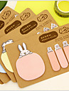 Animal 2 Shapes Kraft Paper Self-Stick Note For School / Office