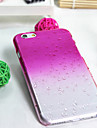 Rain Droplet Gradient Color Transparent Protective Sleeve for iPhone 6/6S(Assorted Colors)