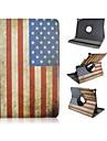 9,7 polegadas padrao de bandeira rotacao de 360 graus com caso estande e caneta para o ar ipad 2 / ipad 6