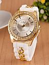 여성의 패션 로마 숫자 다이아몬드 체인 석영 아날로그 팔찌 시계 (모듬 색상)