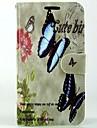 Для Кейс для Huawei / P9 / P8 / P8 Lite Кошелек / Бумажник для карт / со стендом Кейс для Чехол Кейс для Бабочка ТвердыйИскусственная