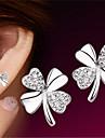 Sterling Silver Earring Stud Earrings Wedding/Party/Casual (1pair)