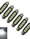 1.5W Festoon Decoration Light 4 SMD 5050 80-90lm Cold White 6000-6500K DC 12V