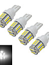 t10 lumiere de decoration 10 smd 7020 210lm blanc froid 6000-6500k dc 12v