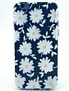 petit motif de chrysanthème blanc TPU étui souple pour iPhone 5c