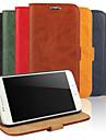 용 삼성 갤럭시 케이스 지갑 / 카드 홀더 / 스탠드 / 플립 케이스 풀 바디 케이스 단색 인조 가죽 Samsung S6