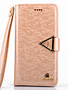 5c tapauksessa ylellinen timantti PU nahka koko kehon tapauksessa kickstand ja korttipaikka iPhone 5c (eri värejä)