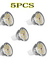 LeXing 5Pcs GU10 5W 36x2835SMD 300-350 LM 2700-3200K Warm White Light LED Spot Bulb (90-240V)