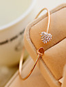 May  Polly Full diamond heart-shaped love bracelet open personality
