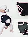 Собака Брюки Одежда для собак Однотонный Черный Лиловый Синий Розовый Хлопок Костюм Для домашних животных