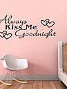 Embrasse-moi bonne nuit toujours citations zy8053 ADESIVO de parede vinyle stickers muraux decor a la maison murales arts