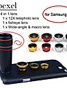 Apexel 4 in 1 12X Black Telephoto Lens+Fisheye Lens+Wide-angle+Macro Camera Lens with Case for Samsung Galaxy S5