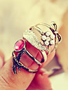 HUALUO®Gem Bow Personalized Angel Wings Swallows Five-piece Ring