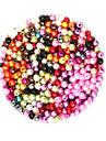 Ювелирные изделия DIY 2000 штук Бусины пластик Круглый Round Shape Шарик 0.4 cm DIY Ожерелье Браслеты