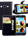 용 삼성 갤럭시 케이스 카드 홀더 / 지갑 / 스탠드 / 플립 케이스 풀 바디 케이스 단색 인조 가죽 Samsung Core Prime