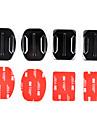 2x fond plat et 2x supports courbes avec des tampons adhésif 3M pour GoPro Hero 4/3 + / 3/2/1 / sj4000 / sj5000 / sj6000