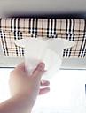 Car sun visor Tissue box Auto accessories holder Paper napkin clip- PU leather Case