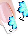 1 Autocollant de transfert d'eau Autocollants 3D pour ongles Fleur Abstrait Mode Quotidien Haute qualité