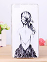 Girl's Back Pattern TPU Cover Case for Huawei P8 Lite