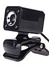 Usb 2.0 4LED 12 m hd camera web cam avec micro vision de clip-on nuit a 360 degres pour le bureau skype ordinateur pc portable